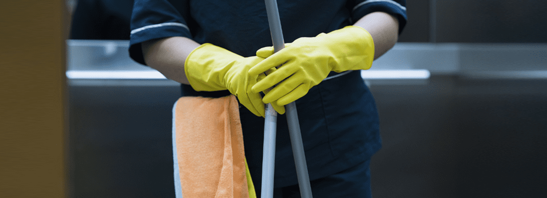 How do you prevent infection as a Cleaning professional?